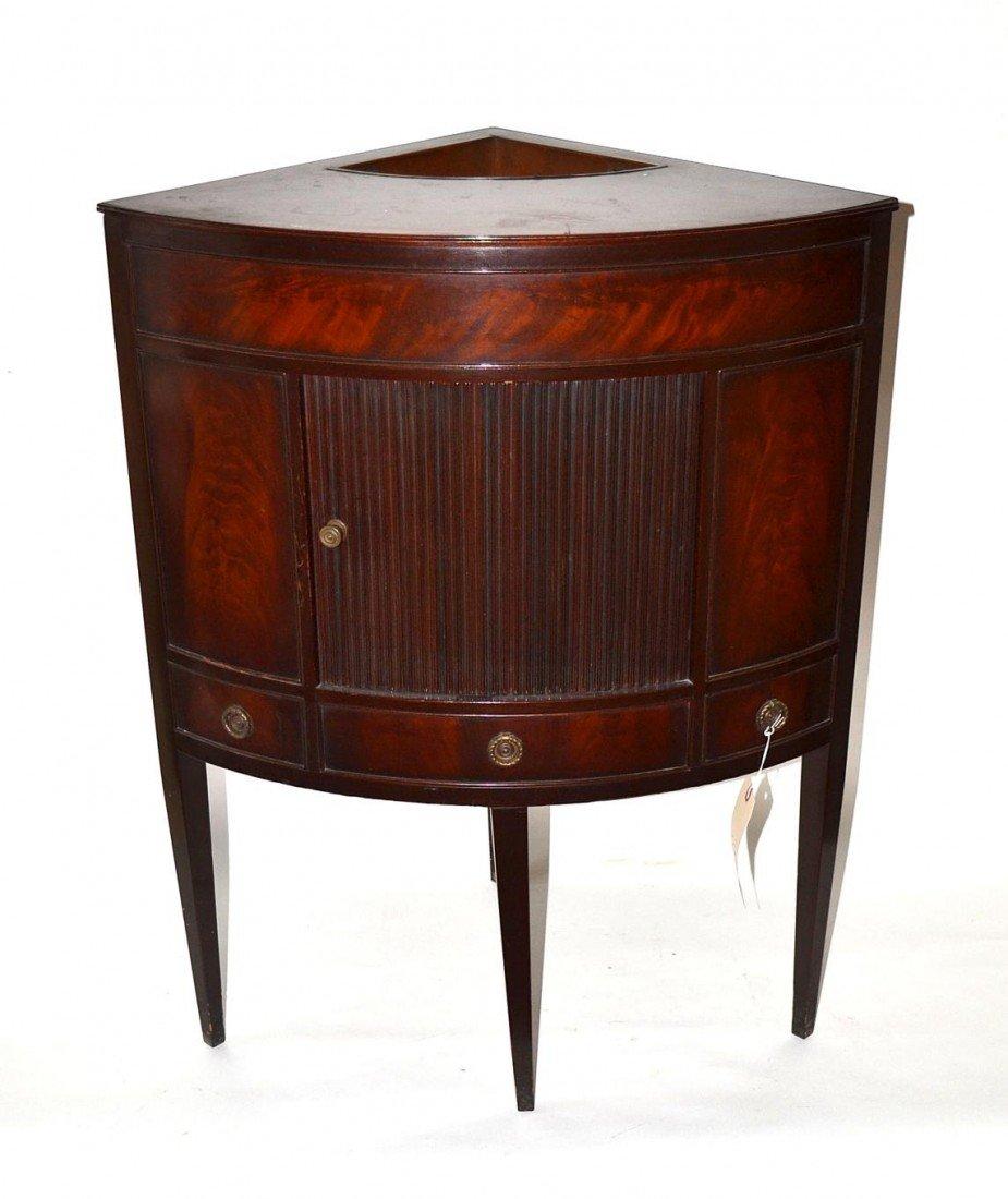 22: Hepplewhite Style Corner Cabinet