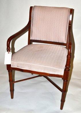 Sheraton Style Faux Bamboo Armchair