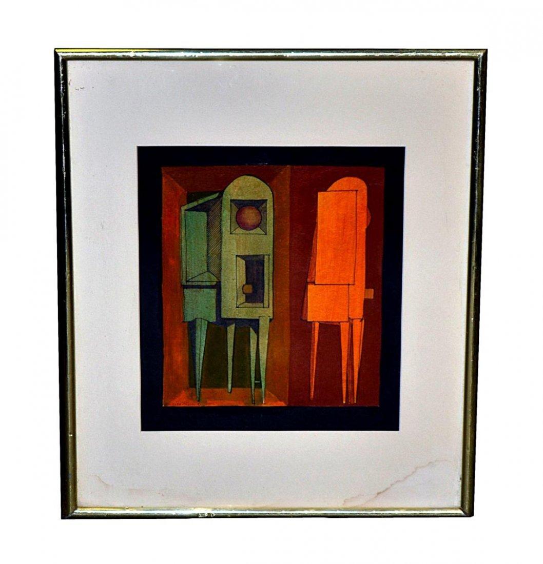 97: Enrico Pinardi Acrylic on Crescent Board