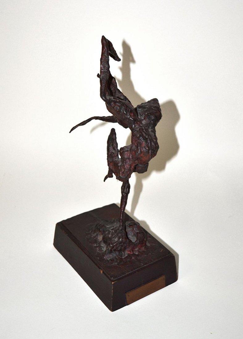 100: Ezio Martinelli Abstract Bronze Sculpture