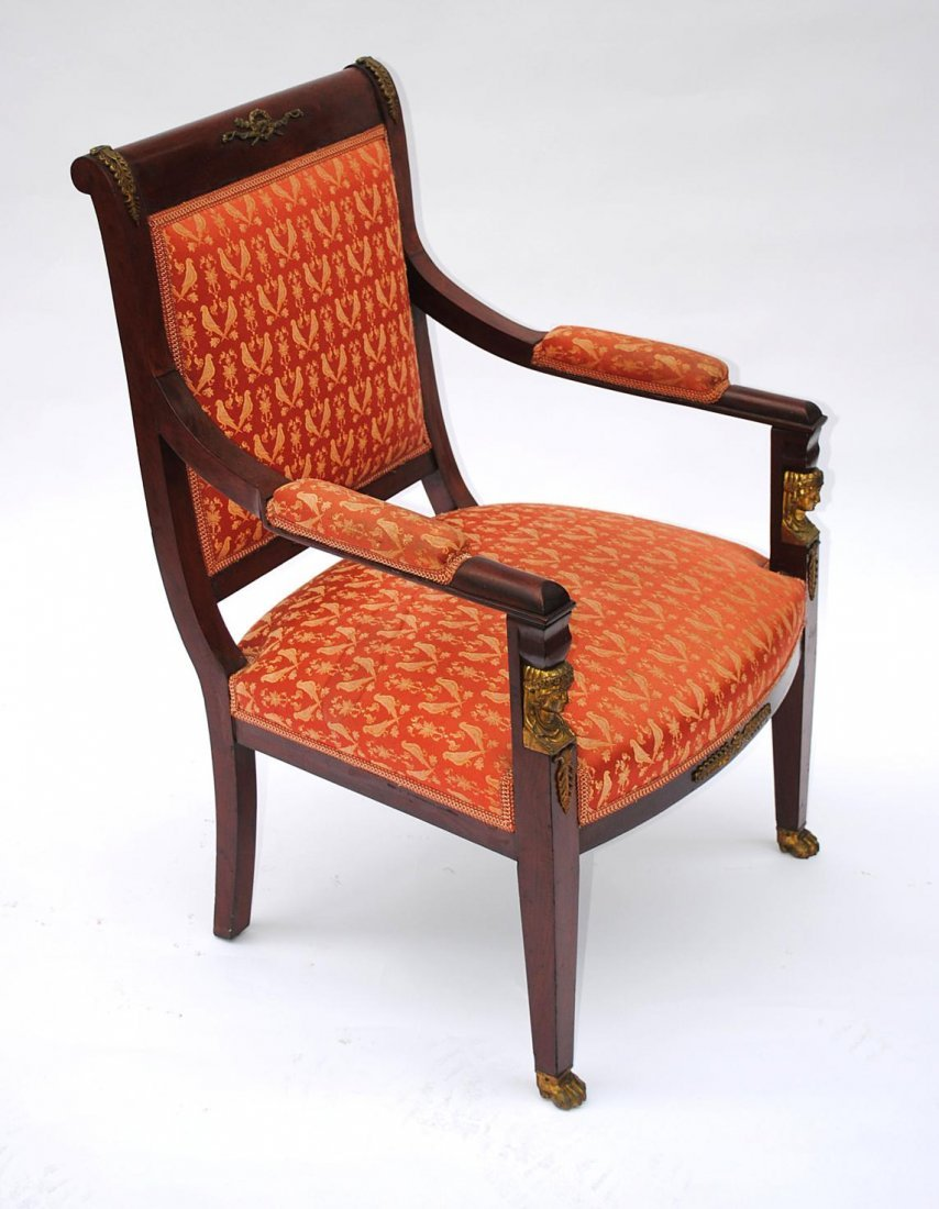 101: Pair of Empire Style Open Armchairs