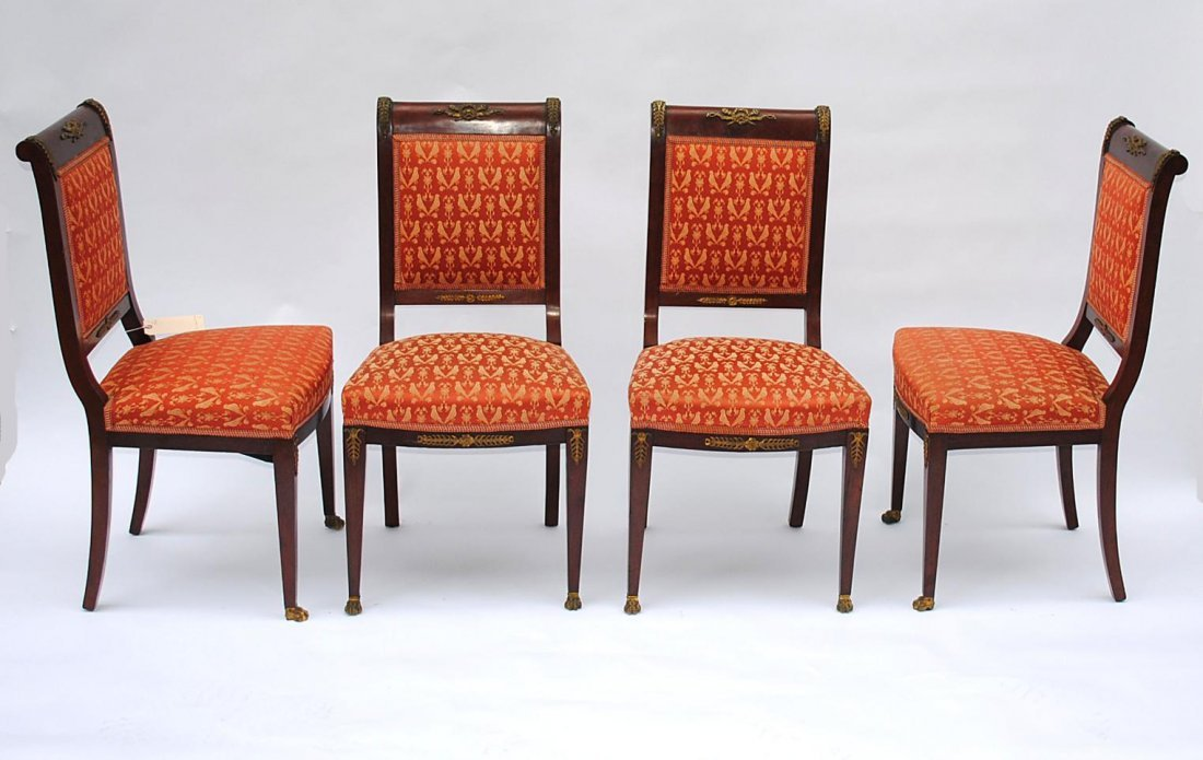 102: Set of Four Empire Style Side Chairs