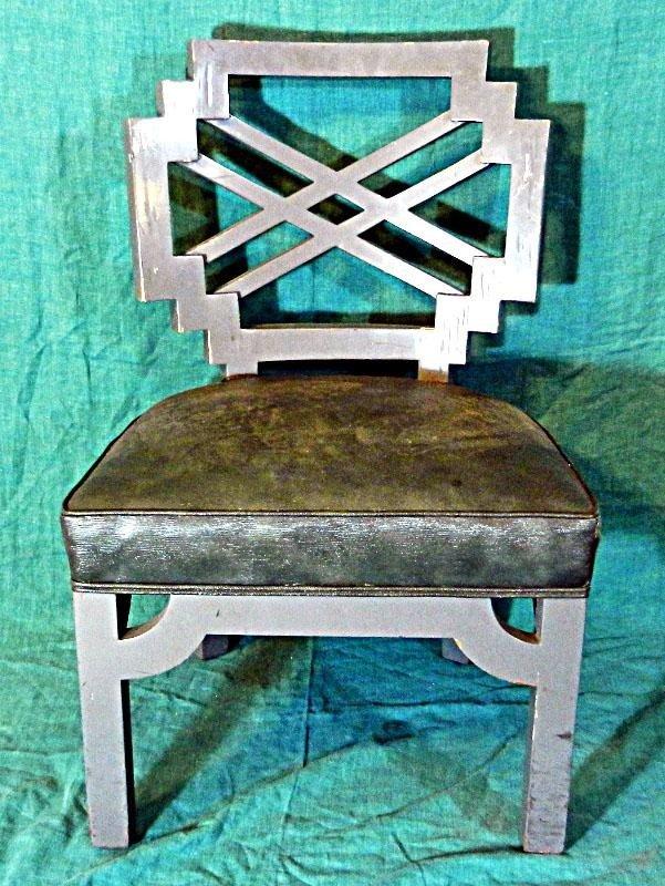 116: Green Mid Century Modern Chair