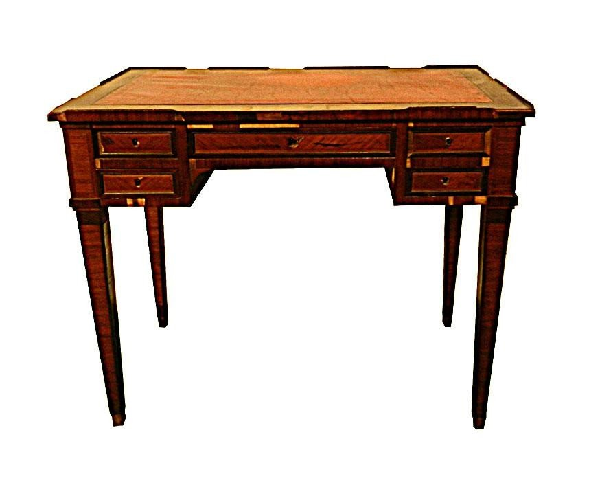 118: French Red Leather Top Writing Table