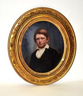 Oil On Board Portrait, Boy