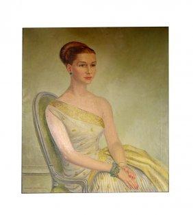 Charles Baskerville Oil On Canvas, Mrs. Mackenzie