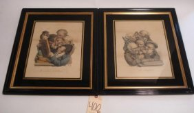 Pair Of French Satirical Prints
