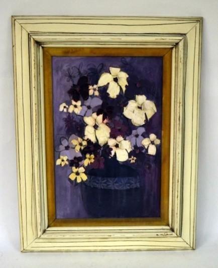 361: Oil on Canvas, Floral Still Life