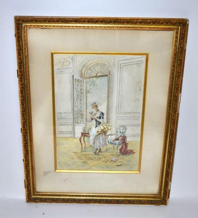 363: Pierre Decante, Watercolor