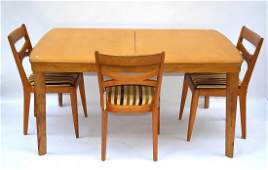 652: Heywood Wakefield Dining Table & Chairs