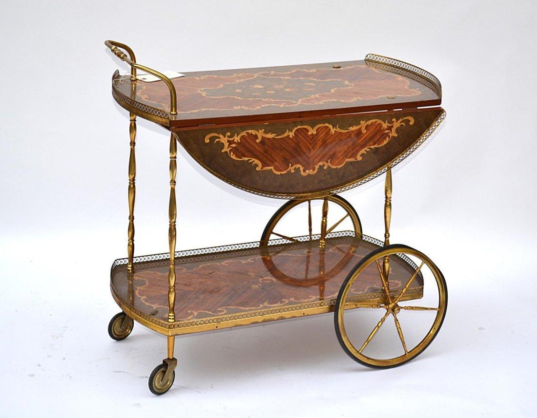 360: Italian/French Inlaid Tea Cart