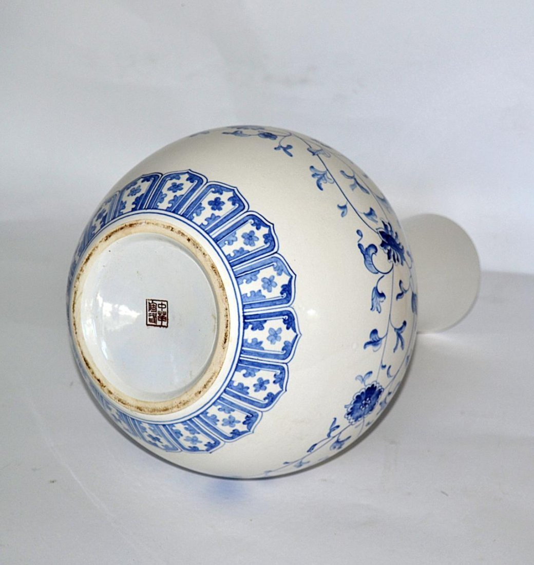 91: Chinese Blue & White Vase - 3