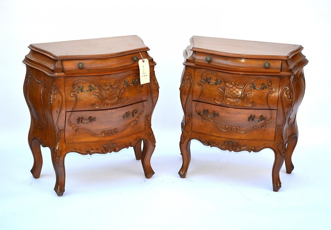 1: Pair of French Provencial Style End Tables