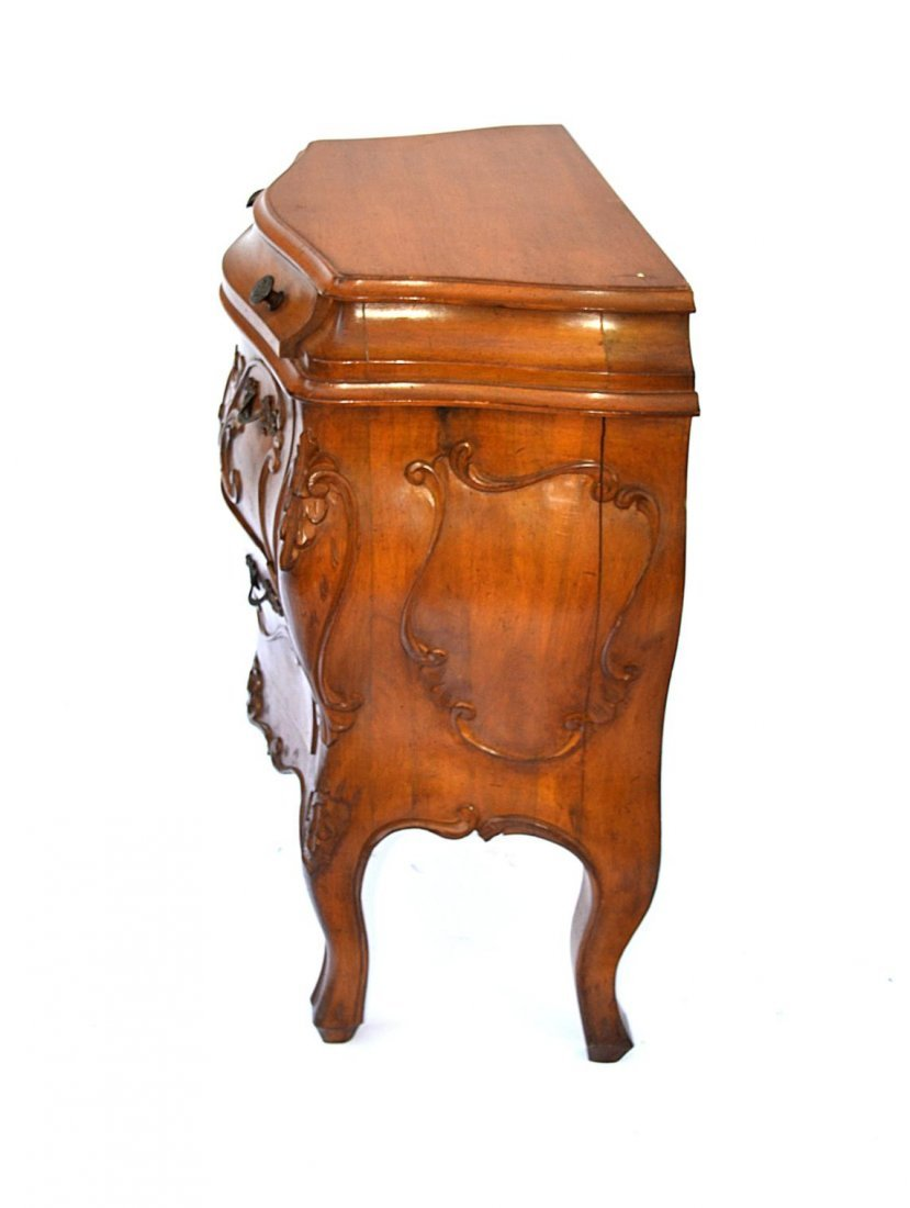1: Pair of French Provencial Style End Tables - 4