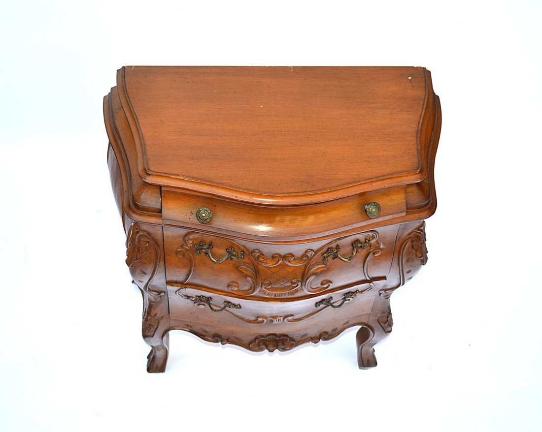 1: Pair of French Provencial Style End Tables - 7