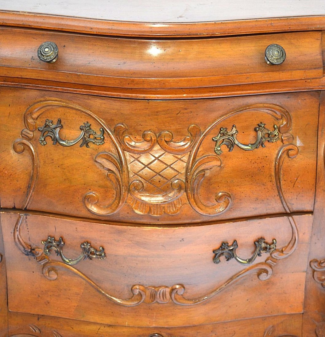 1: Pair of French Provencial Style End Tables - 8