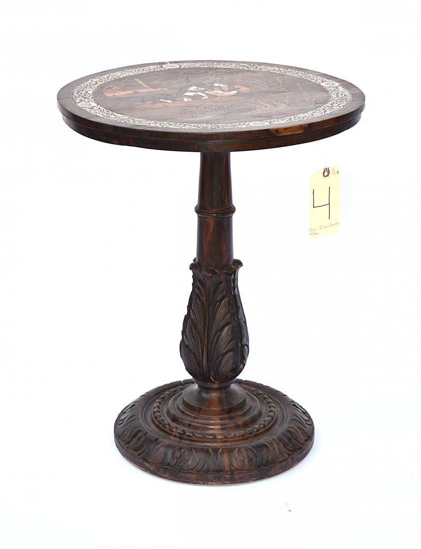4: Anglo-Indian Rosewood Pedestal Table