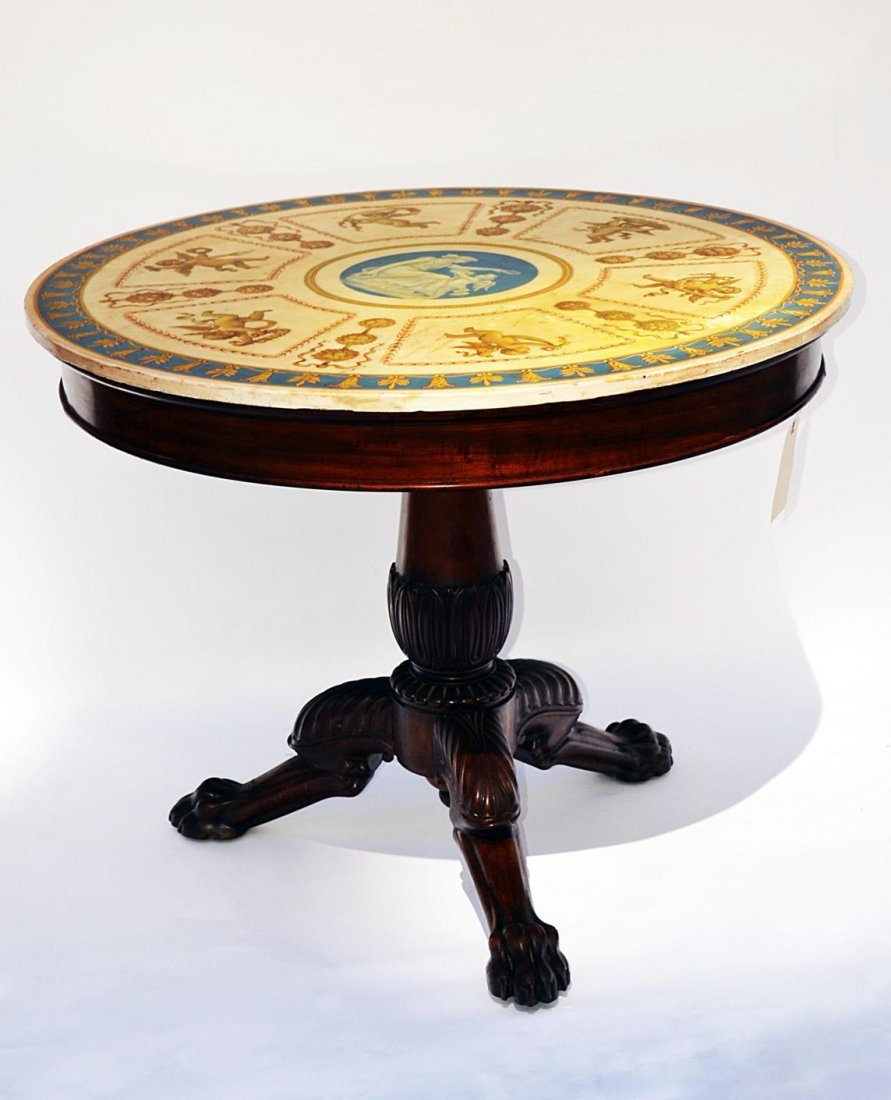 5: Neo-Classical Scagliola Top Center Table