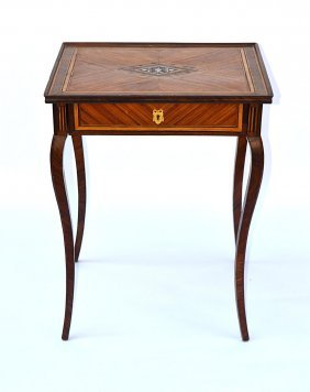 9: Italian 19th C. Inlaid Table