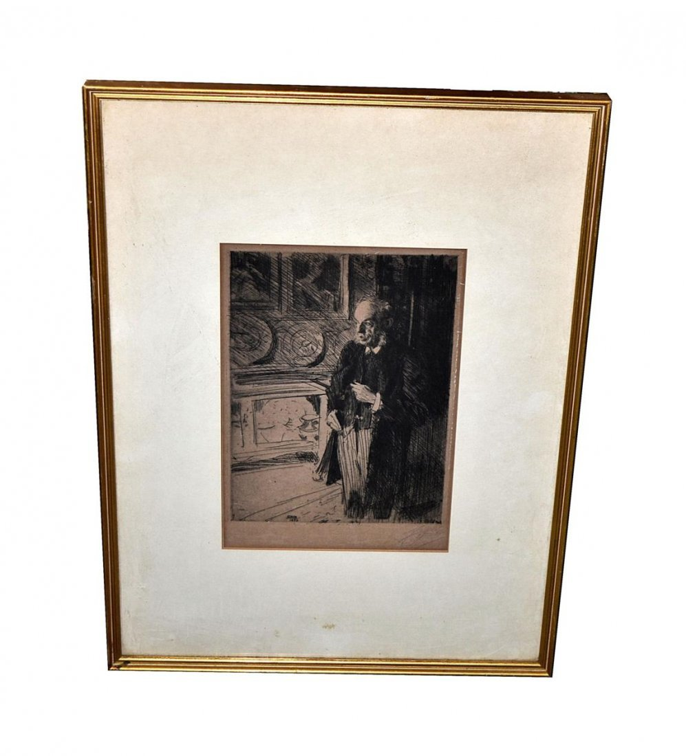 127: Anders Zorn Etching - Henri Marquand