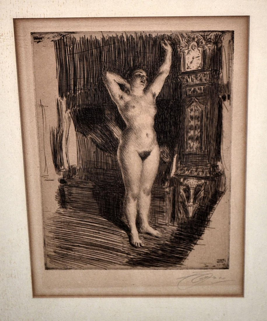 130: Anders Zorn Etching - Early Stretch