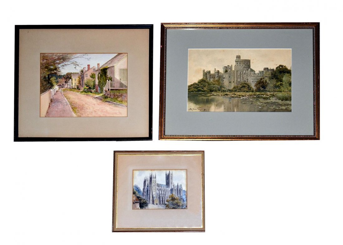131: Jane Brewster Reid Watercolor & Others
