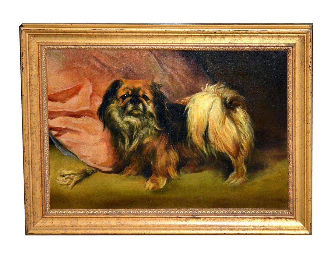 132: Oil on Canvas Portrait of Shih-Tzu