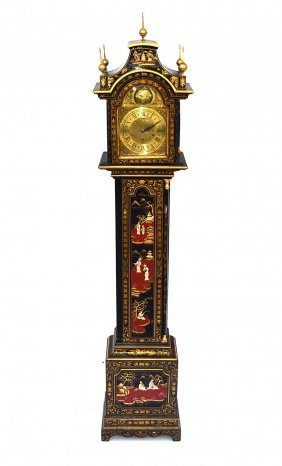Japanese Queen Anne Style Tall Case Clock