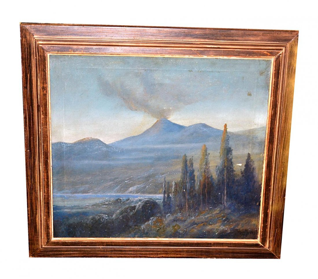 140: Thomas Gibbs Moses Oil on Canvas - Red Bluff