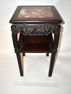 Chinese Marble Inset Stand