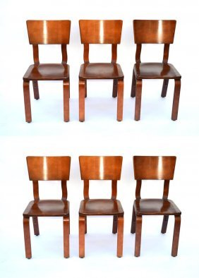 Set Of Six Thonet Chairs