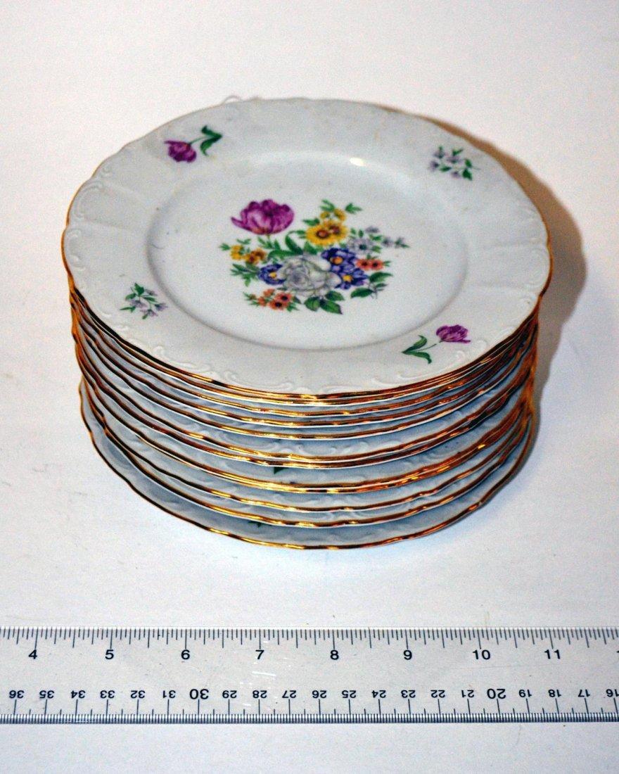 14: Set of 12 Bohemian Dessert Plates
