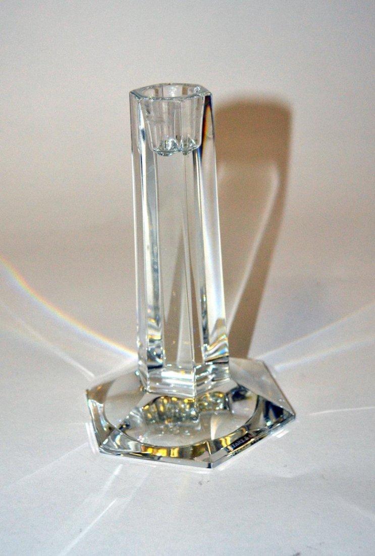 18: Three Tiffany Crystal Candlesticks - 5