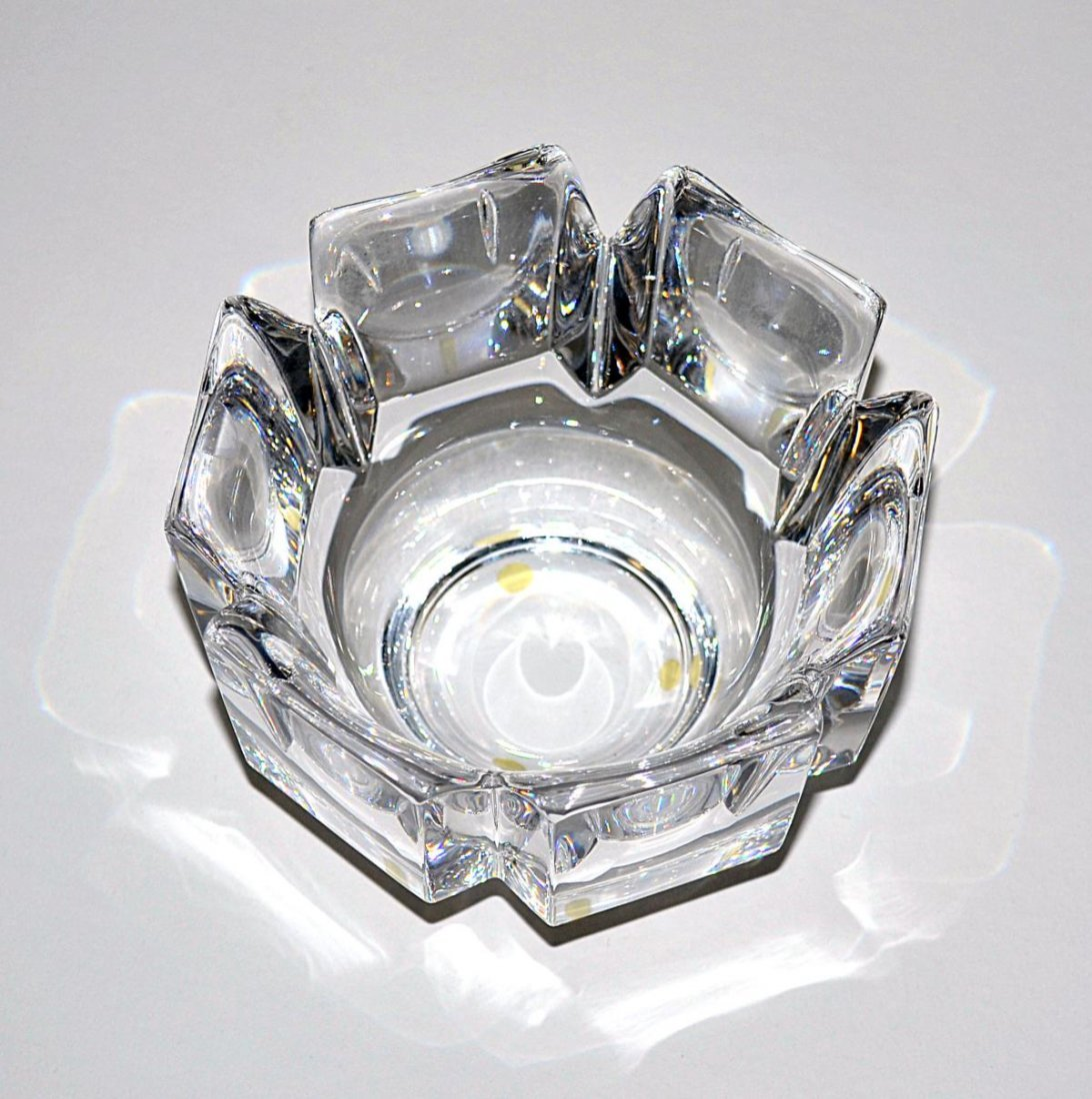20: Three Modern Crystal Bowls - Lalique & Orrefors - 7