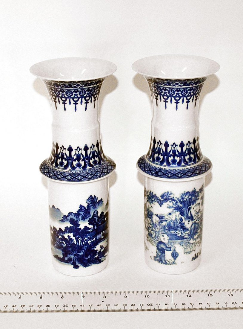 175: Pair of Chinese Blue & White Vases