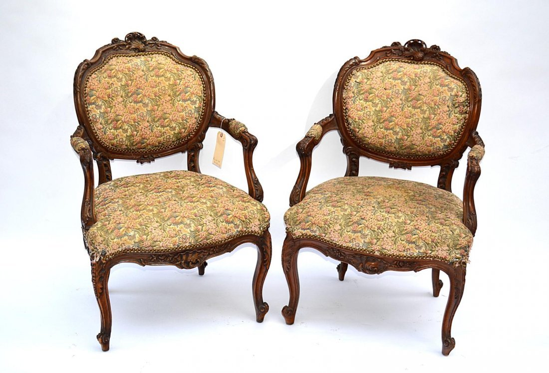 169: Pair of Louis LXV Style Armchairs