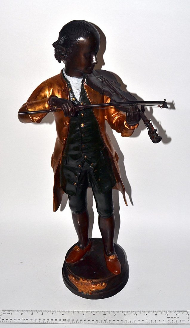 222: Bronze Figure of a Violinist