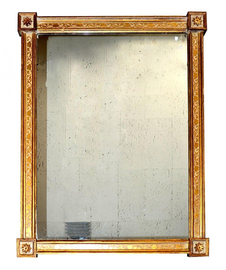 75: Italian Rectangular Parcel-Gilt Mirror