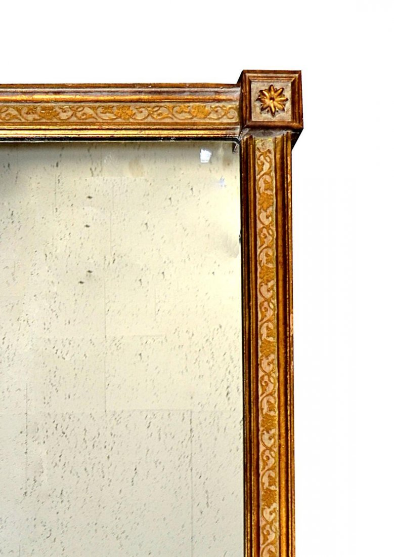75: Italian Rectangular Parcel-Gilt Mirror - 2