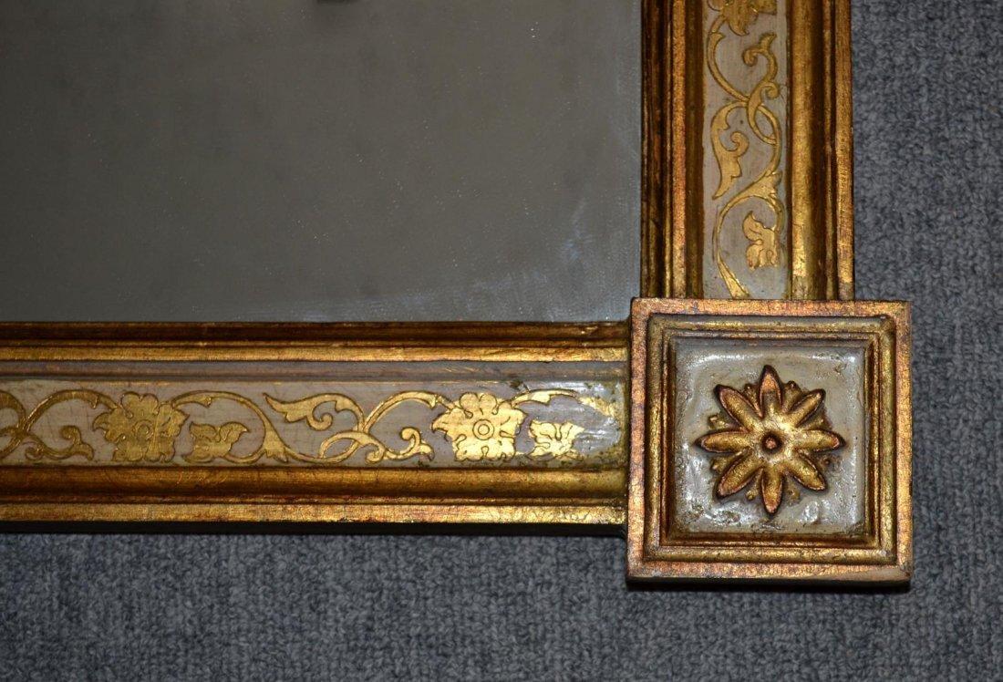 75: Italian Rectangular Parcel-Gilt Mirror - 3