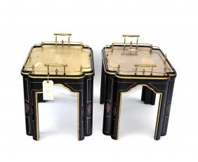 Pair Of Asian Style Tables