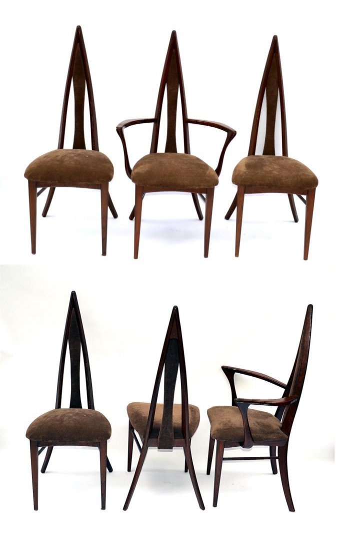 229: Set of Six Modern Teak Dining Chairs