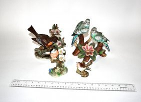 Group Of Four Porcelain Birds