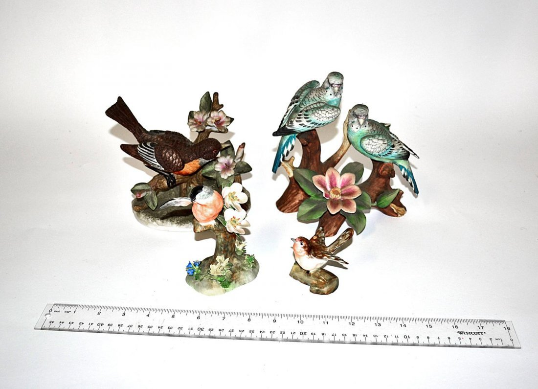 144: Group of Four Porcelain Birds