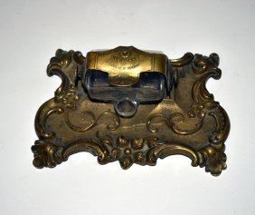 "Bronze Perry & Co. ""Gravitating"" Inkstand"