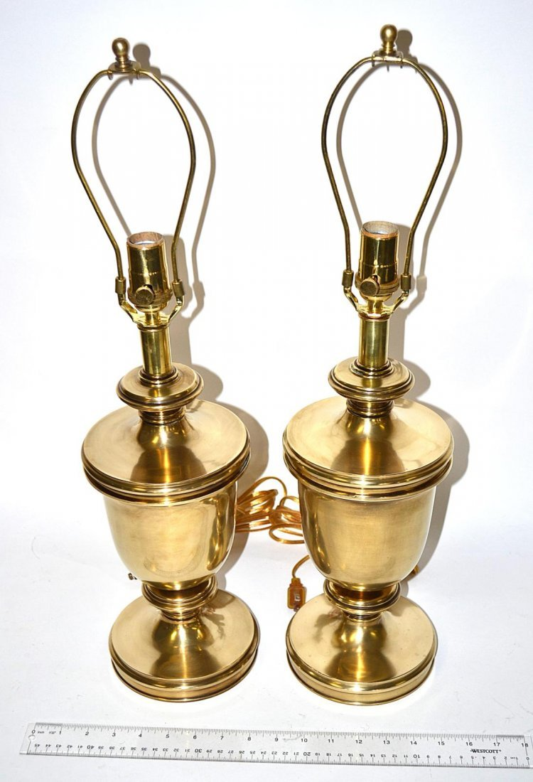 219: Pair of Modern Brass Lamps