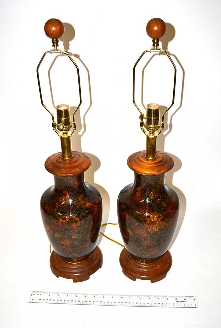 220: Pair of Floral Lamps
