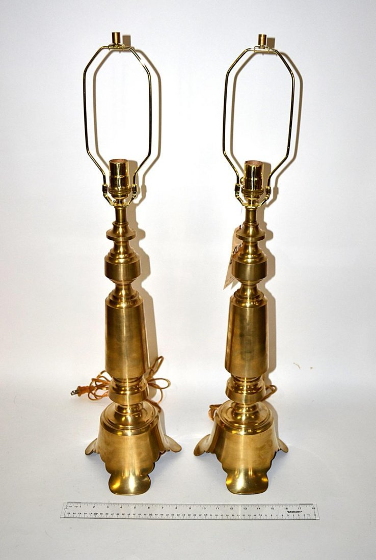 233: Pair of Modern Brass Lamps