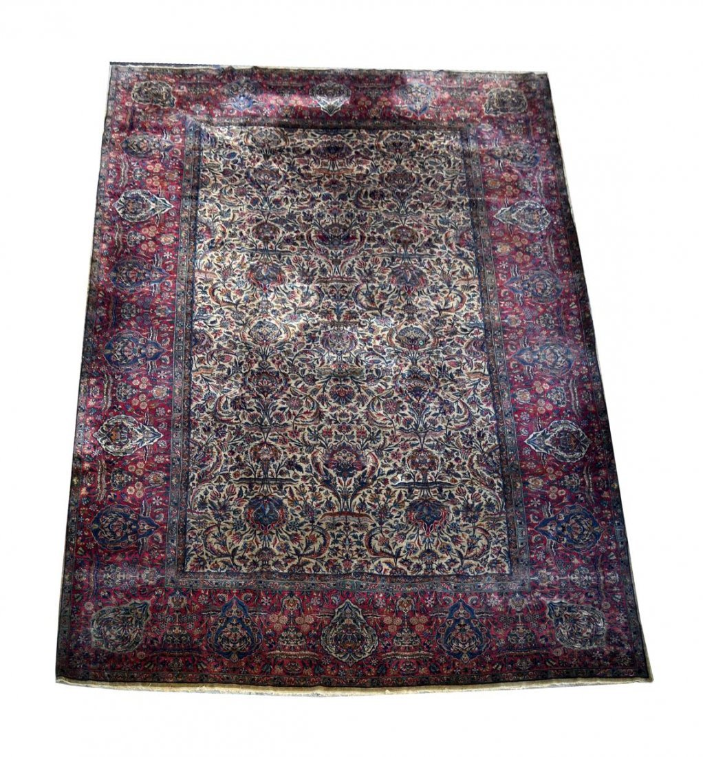 293: Kirman Carpet, Approx 12' x 19'
