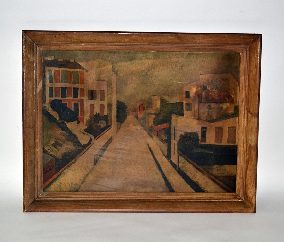 247: Print After Maurice Utrillo, Street Scene
